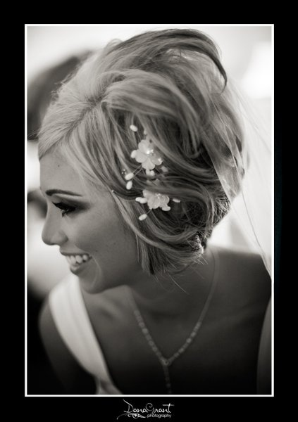 short hair wedding style... @Casey Dalene Crooms.  I'm really thinking that this is the one!!