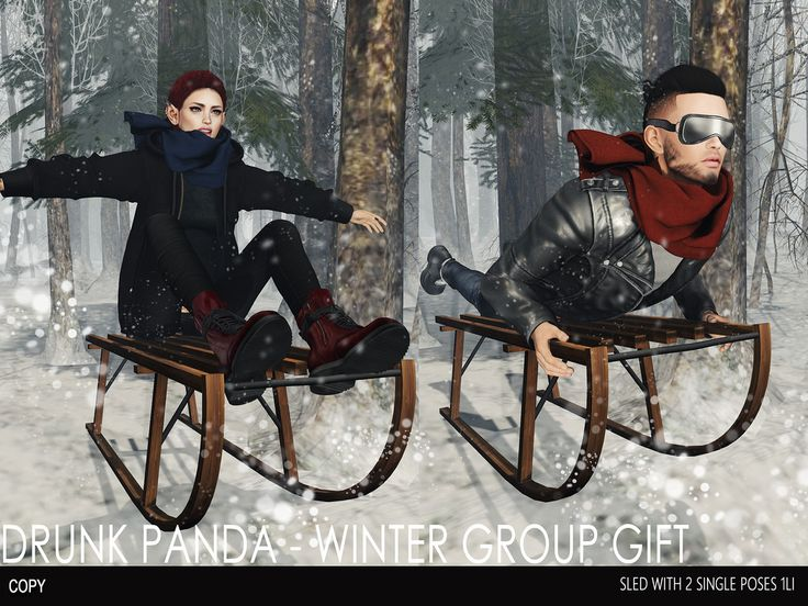 We have a new Group Gift for you! You can't miss that! Merry Christmas from Drunk Panda ♥  LM: maps.secondlife.com/secondlife/Lavender%20Island/157/132/...