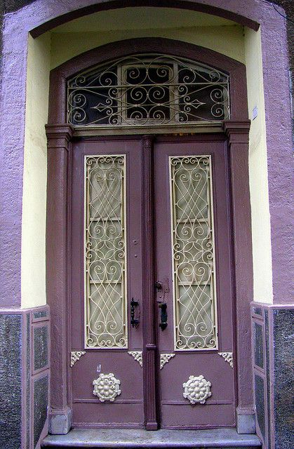 purple: Purple Bathroom, Doors Color, Double Doors, Front Doors, Knock Knock, Gates, Gardens Design, Purple Doors, Purple Passionate