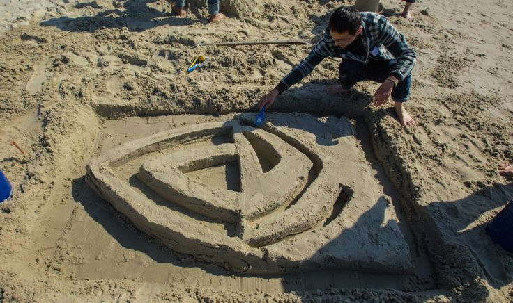 Just another day at the beach... #NVIDIA #sandart