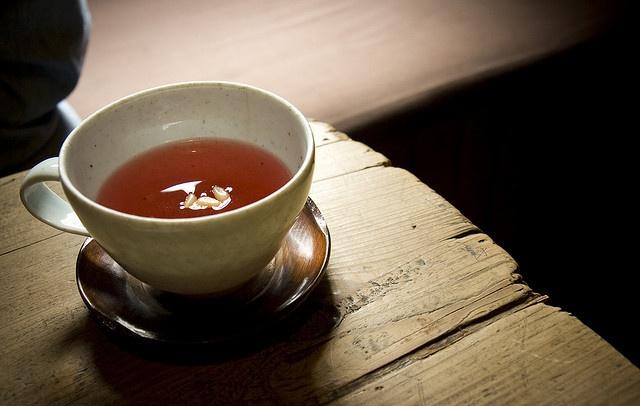 Pomegranate tea    Pomegranate tea w/pine nuts @ traditional tea house - Insadong, Seoul, S. Korea
