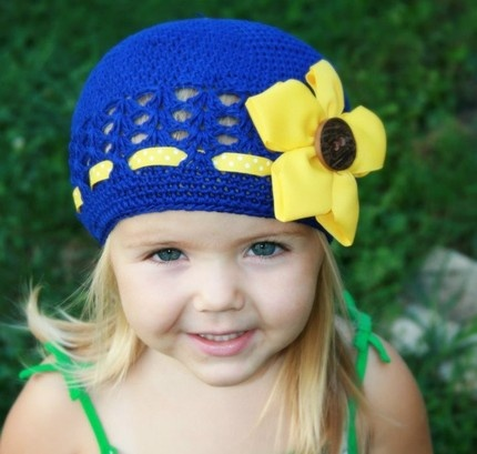 yellow sunflower hat