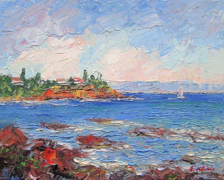 Royal Beach, Mornington, Victoria, Australia Original Impressionist Oil Painting by Enoch Hlisic
