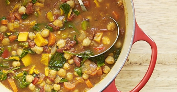 Slow Cooker Moroccan Chickpea Soup #Recipe