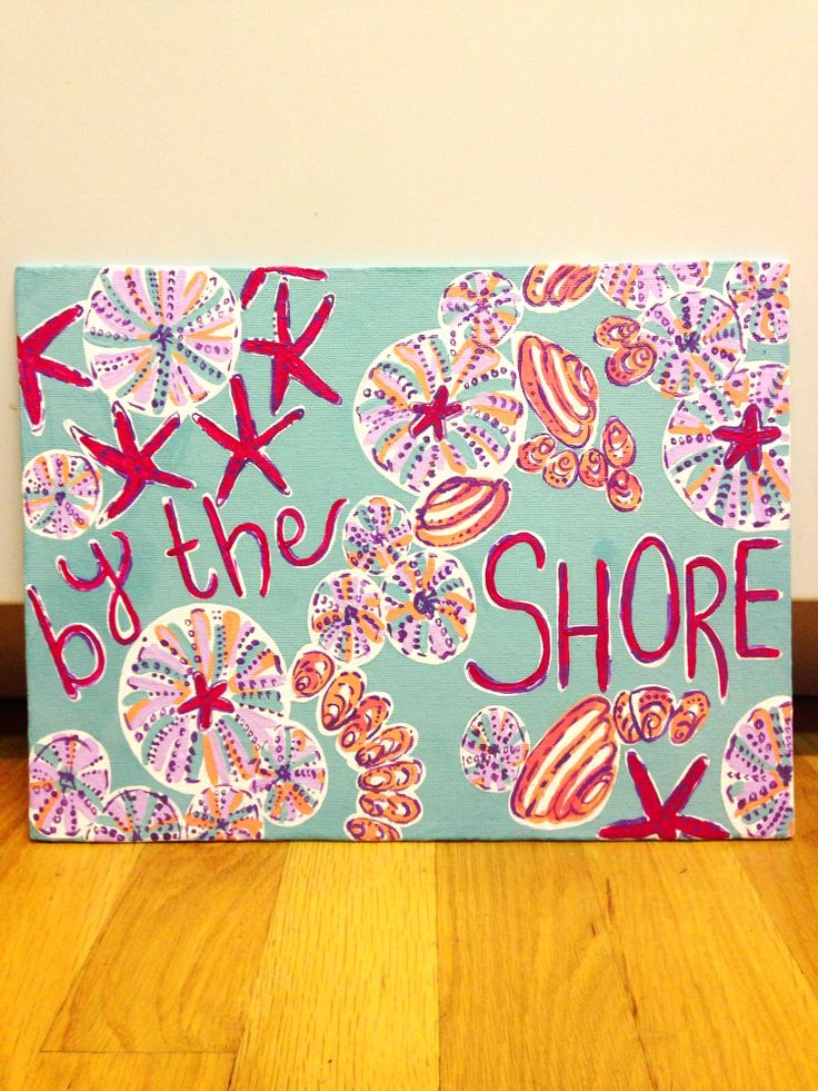 Lilly pulitzer June agenda painted print I made. By the shore. Taylorstorrer