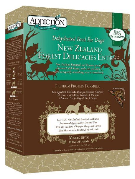 Addiction New Zealand Forest Delicacies Raw Dehydrated Dog Food