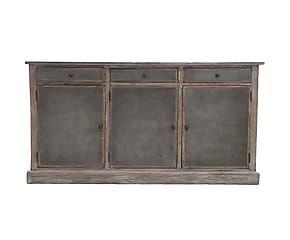 Credenza in legno e ferro con 3 cassetti George - 165x86x40 cm