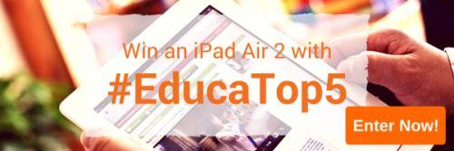 Educa Blog - Win an iPad Air2 #educatop5