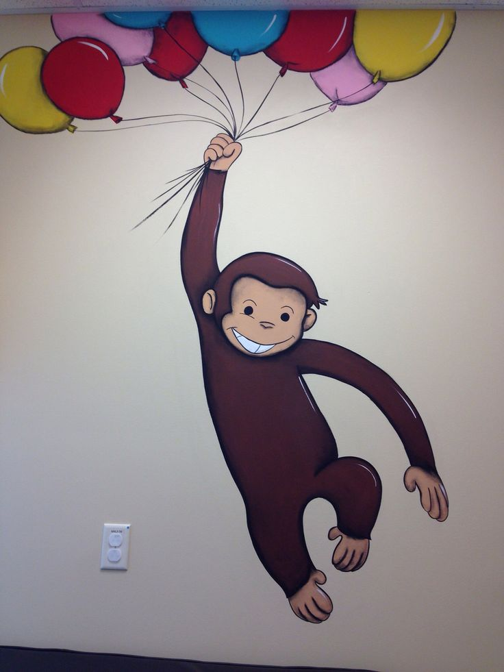 24 best murals images on pinterest child room murals for Curious george mural
