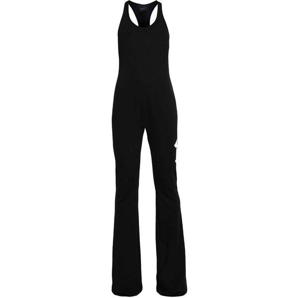 Fenty PUMA by Rihanna Jumpsuit black/white ❤ liked on Polyvore featuring jumpsuits, white and black jumpsuit, black and white jumpsuit, black white jumpsuit, jump suit and puma jumpsuit