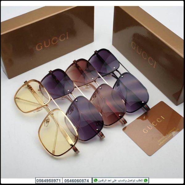 نظارات قوتشي رجالي Gucci مع جميع الملحقات و بنفس الاسم Oval Sunglass Glasses Sunglasses