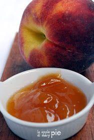 La Apple Pie di Mary Pie: Confettura vellutata di pesche... allo sciroppo di pesca!