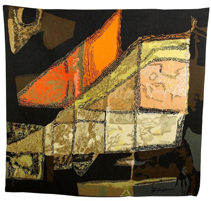 Mathieu Matégot; 'Cinnabar' Tapestry for Les Ateliers Pinton Frères, c1960.