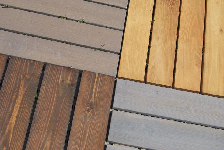 Piastrelle in legno da esterno