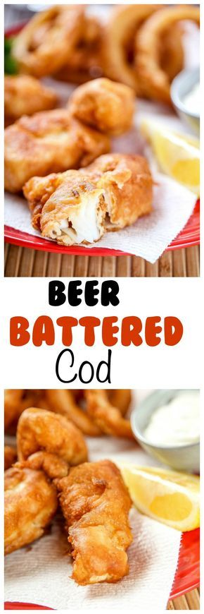 Beer Battered Cod: Amazingly crisp on the outside yet juicy and flaky on the inside . Quicker and tastier than your local fish fry.