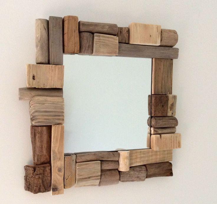 Miroir en bois flotté par l'Atelier de Corinne