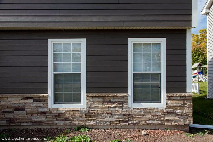 Rich Espresso James Hardie Siding With Versetta Stone