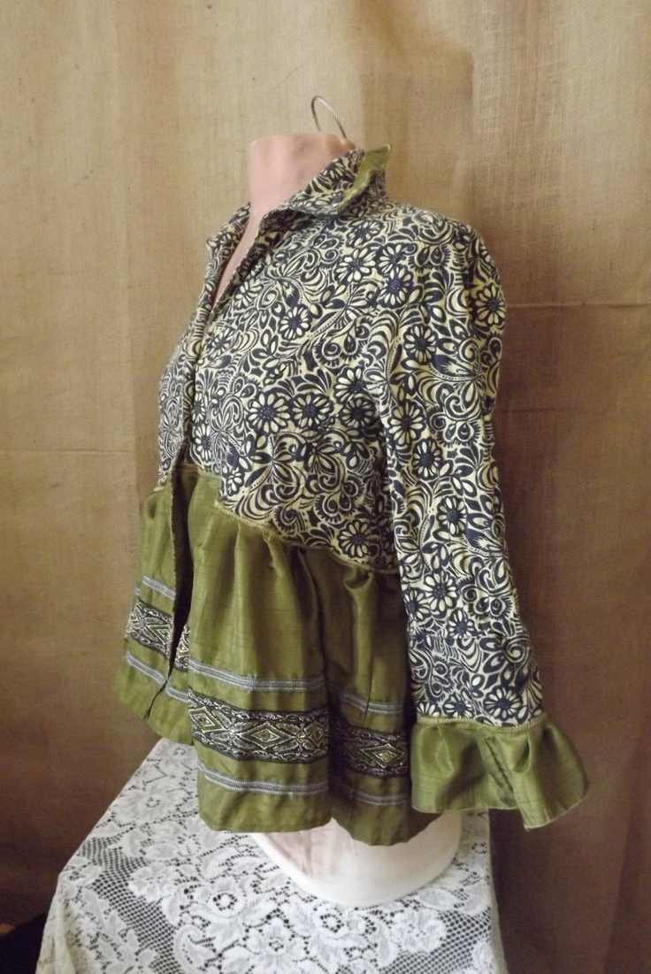 Boho Upcycled Blouse Jacket Passage to India