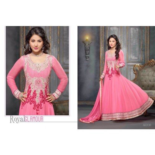 Heena Khan Exclusive Party Wear Anarkali Suits HZ 42009