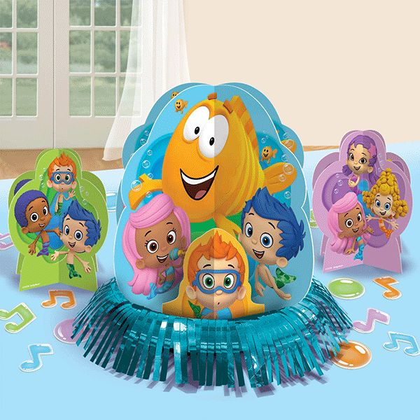 See if you can get all your ducks in a row with these adventurous birthday decorations. Our Bubble Guppies Table Decorations Kit has the supplies you need to transform your table into a fun Bubbletuck
