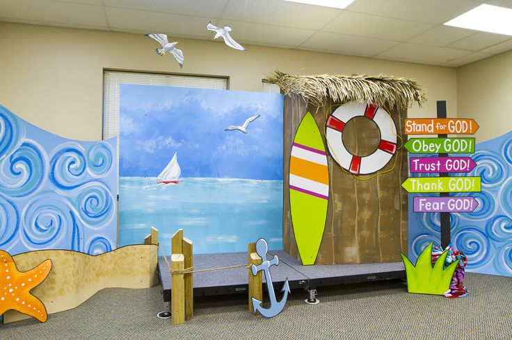 Lifesaver Lesson Time (Bible Lesson Time) at Ocean Commotion VBS for 2016!