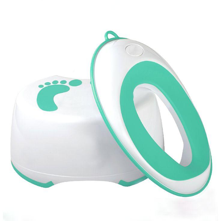 Kids Plastic Step Stool Bathroom Toilet Anti-slip Step Stool Plastic baby toilet training seat can OEM bundle promotion