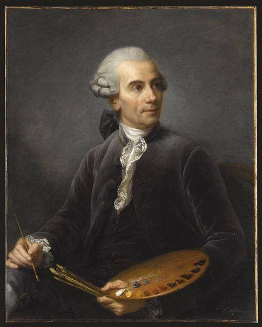 Claude Joseph VERNET painting by Elisabeth Vigée Le Brun (1778) Musée du Louvre