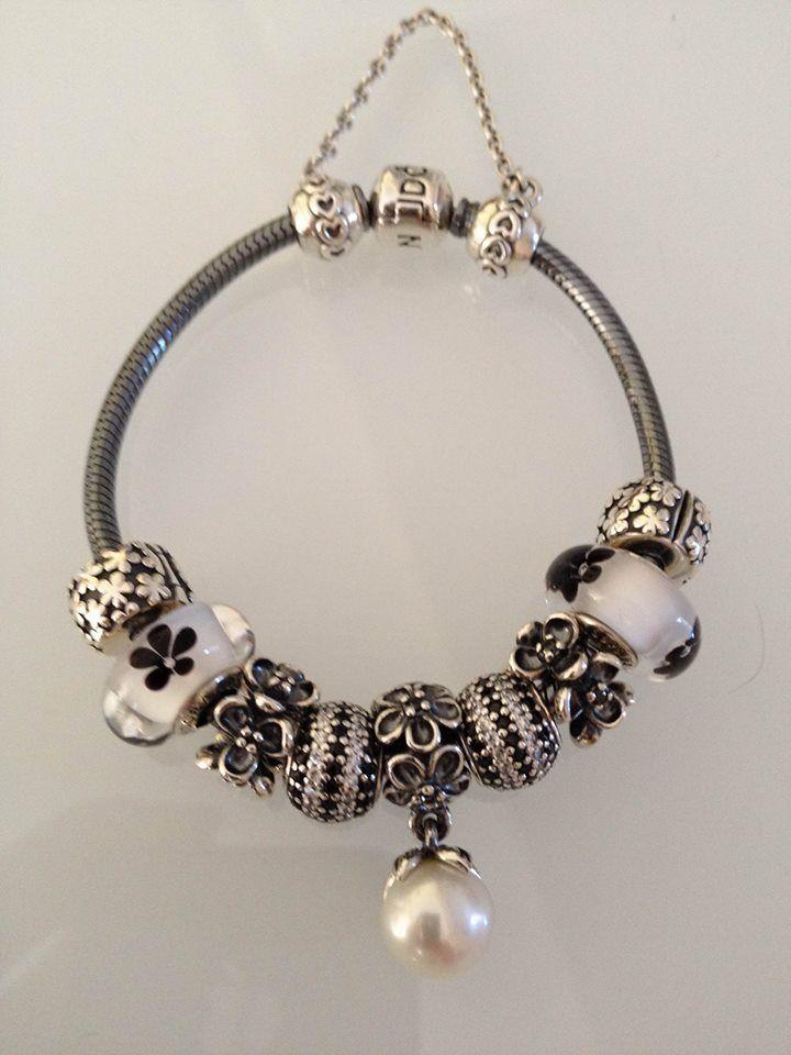 Pandora bracelet oxy noir blanc Pandora Bracelet Silver Bijoux et charms à retrouver sur www.bijoux-et-charms.fr