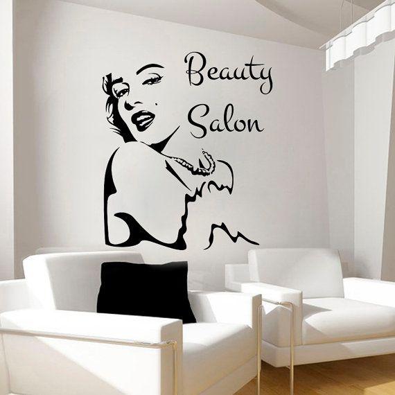 Etonnant Wall Decals Vinyl Decal Sticker Interior Design Home Decor Art Mural Bedroom  Beauty Salon Girl Face