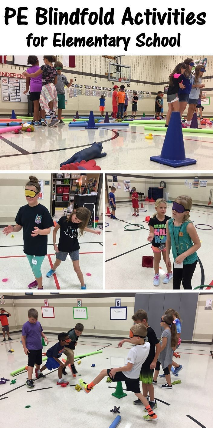 5 Pe Blindfold Activities For Elementary School Physical Education Physical Education Activities Elementary Physical Education