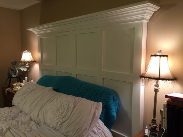 Headboard made from two hollow core doors.