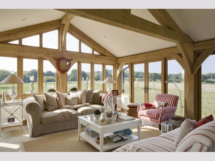 Oakwrights oak frame house sitting room images