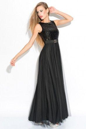 LONG BLACK DRESS OVER NETS SIX irony PAYET