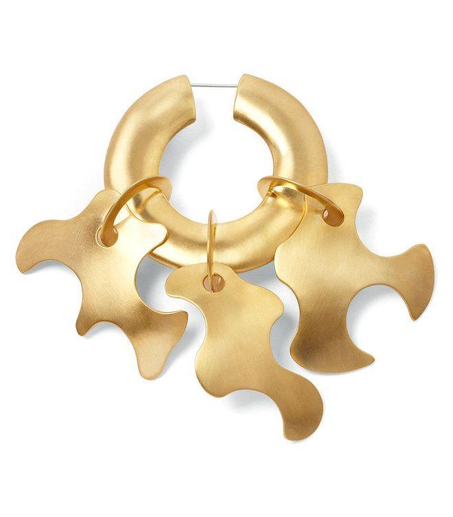 Orecchini grandi con cerchio d'oro #Tibi