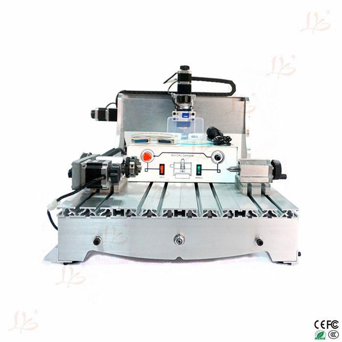 4 axis cnc drilling machine 6040Z-D300 with ball screw and spindle for wood glass so on cnc router