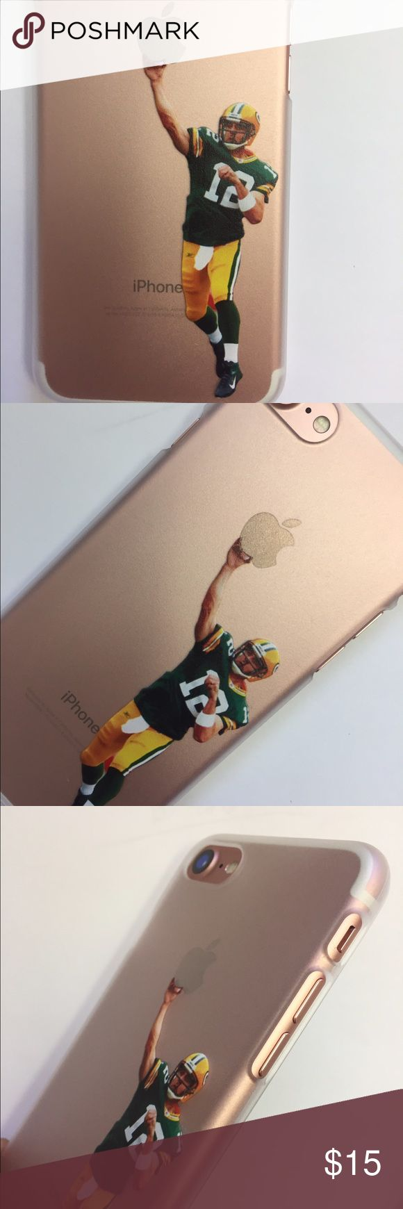Aaron Rodgers iPhone 7 case New iPhone 7 Aaron Rodgers semi transparent plastic shell case with printed image not a sticker Jordan Accessories Phone Cases