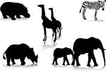 silhoutte animals