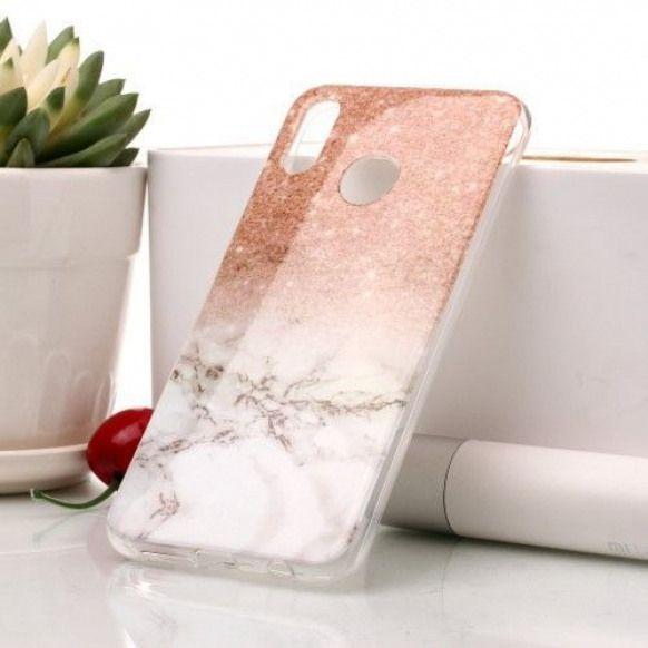 Coque Huawei P20 Lite Paillettes et marbre blanc #phoneaccessories ...