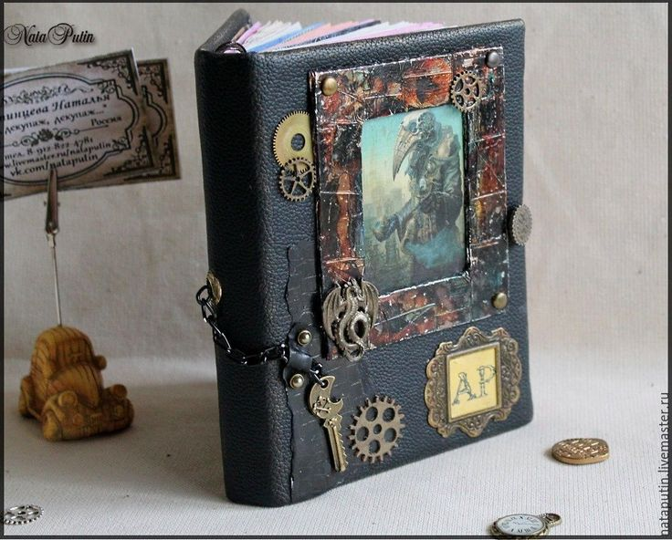 """Купить Блокнот ручной работы """"Steampanker"""" - блокнот с нуля, блокнот ручной работы, блокнот в подарок"""