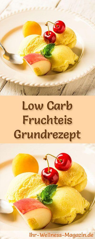 Grundrezept um Low Carb Fruchteis selber zu machen - ein einfaches Grundrezept für kalorienreduzierte, kohlenhydratarme und gesunde Eiscreme ohne Zusatz von Zucker ...