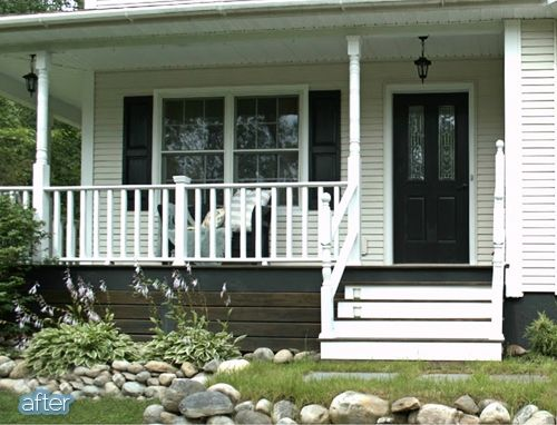 17 best images about under deck siding designs on for Under porch ideas