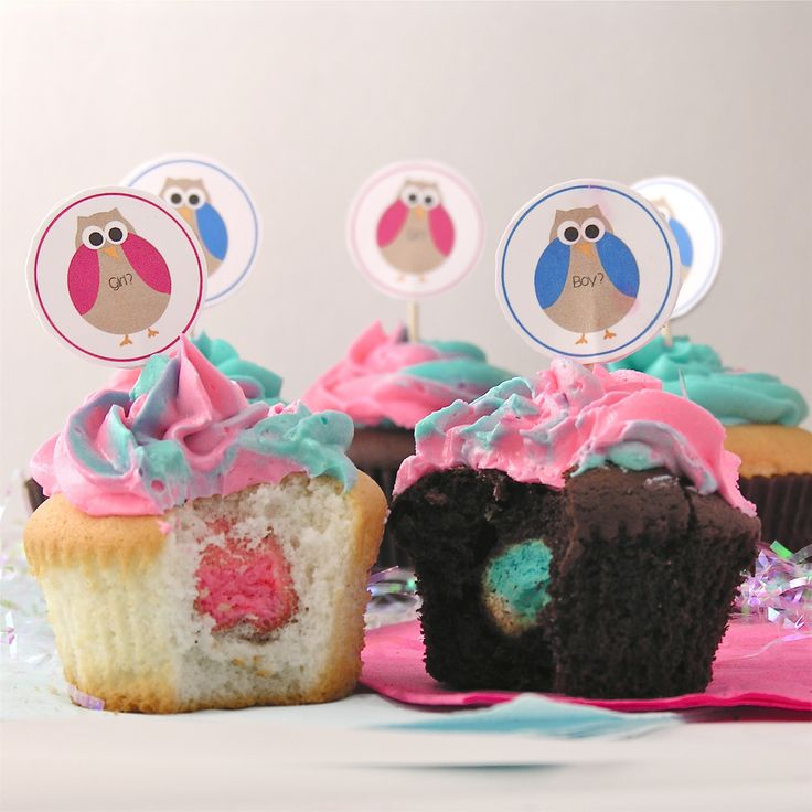 Niño o niña? El interior de los cupcakes lo dice! / Girl or boy? The inside of the cupcakes will tell all!