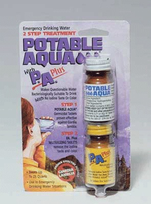 Potable Aqua P.A. Plus 2 Step Water Treatment -- Barre Army/Navy Store Online Store