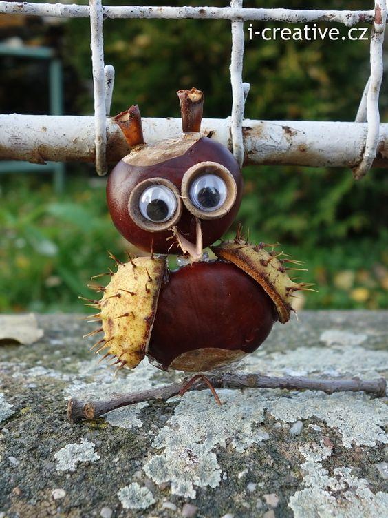Kastanienmännchen und Co. – Herbstdeko basteln mit Kastanien und Nüssen