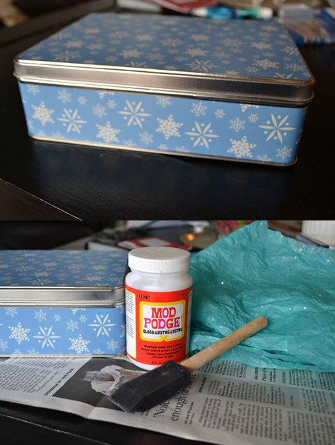 How to Decorate and Reuse a Holiday Cookie Tin