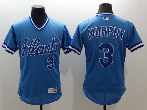 detailed look 162e6 d4553 Braves #3 Dale Murphy Light Blue Flexbase Authentic ...