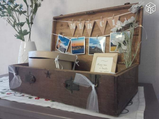Urne valise vintage mariage Décoration Bouches-du-Rhône - leboncoin.fr
