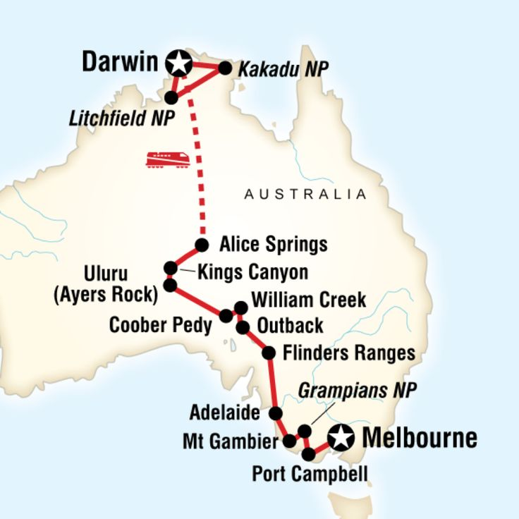 26 best to explore images on pinterest wanderlust travel and map of the route for australia south to north melbourne to darwin g adventures gumiabroncs Gallery