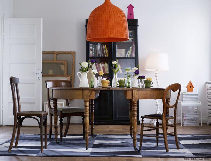 Orange wicker light fixture from http://www.designattractor.com/