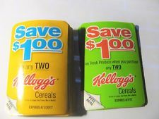 25 Kelloggs 1.00/2 Cereal Coupons Froot Loops Frosted Flakes Mini Wheats Etc